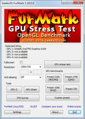 显卡测试软件|Furmark v1.18.1.0 多语版