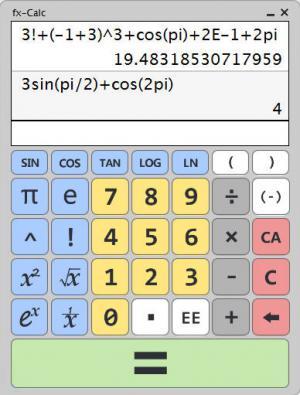 fxCalc科学计算器 v1.0.0