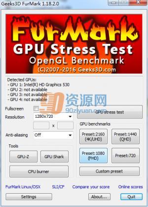 显卡测试|Furmark v1.18.2.0