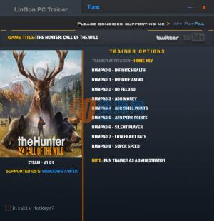 猎人荒野的呼唤九项修改器 v3.0
