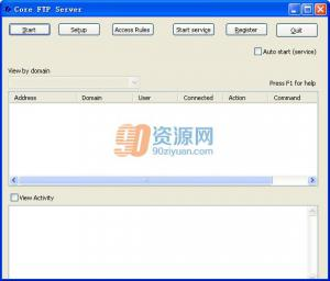 FTP服务器Core FTP Server v1.2 Build 589.34