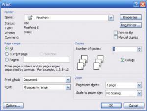 打印机驱动程序FinePrint v9.10