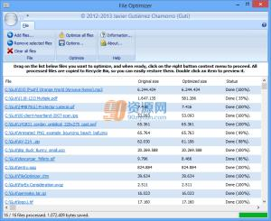 文件重压缩软件FileOptimizer v9.70.1745