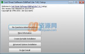 文本编辑工具JGsoft EditPad Lite v7.6.0