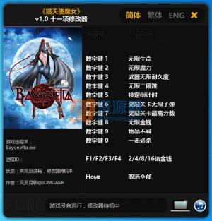 猎天使魔女十一项修改器 风灵月影版